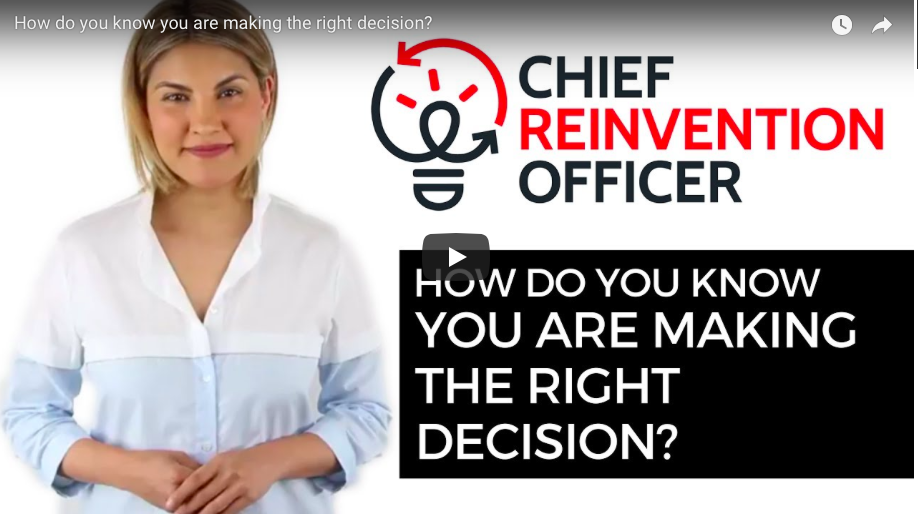How do you know you are making the right decision?